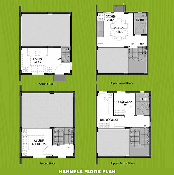 Hannela Floor Plan House and Lot in Zambales