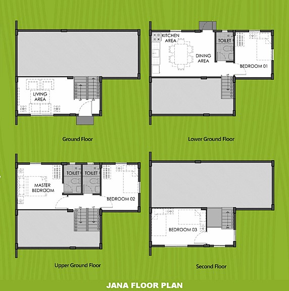 Janna Floor Plan House and Lot in Zambales