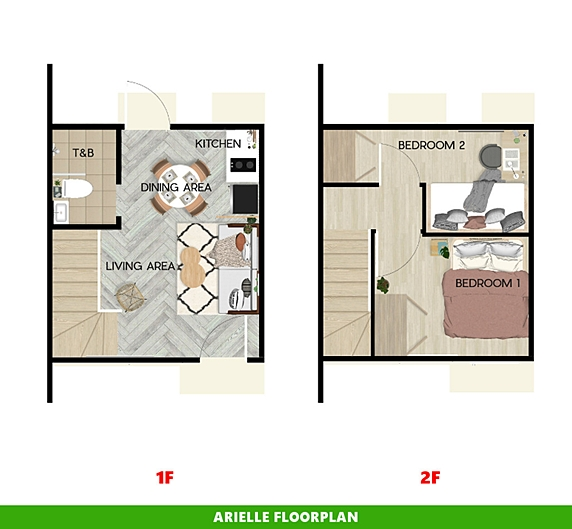 Arielle Floor Plan House and Lot in Zambales