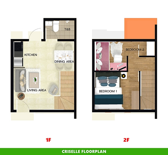 Criselle Floor Plan House and Lot in Zambales