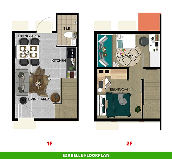 Ezabelle Floor Plan House and Lot in Zambales