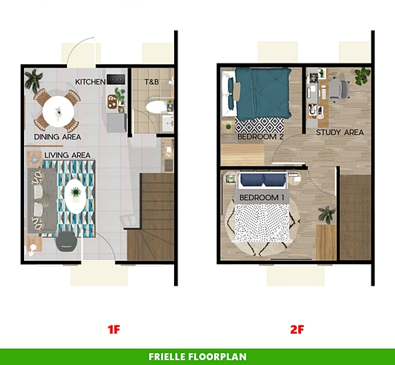 Frielle Floor Plan House and Lot in Zambales